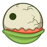 Creepy eyeball icon, cartoon style Stock Images