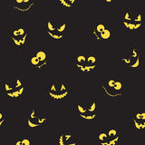 Creepy faces seamless background vector illustration