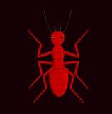 Creepy Fire Ant. Vector Illustration Stock Photos