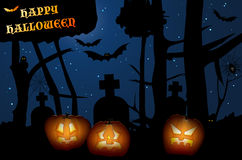 Creepy forest - Halloween night Stock Photo