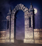 Creepy Gate Background Stock Photo