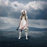 Creepy Girl doll Royalty Free Stock Photography