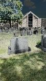 Creepy graveyard. New jersey toms rive Stock Photography