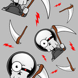Creepy Grim Reaper Seamless Pattern Royalty Free Stock Image