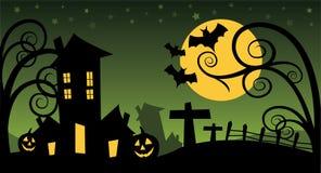 Creepy halloween background Stock Photo
