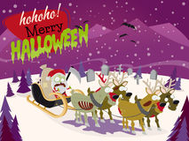 Creepy halloween christmas santa Royalty Free Stock Image