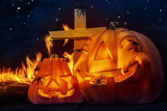 Creepy Halloween night Royalty Free Stock Photos