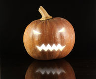 Creepy Halloween Pumpkin Royalty Free Stock Photos