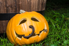 Creepy Halloween Pumpkin Royalty Free Stock Photo