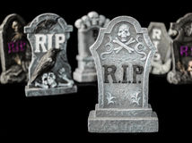 Creepy Halloween Rest In Peace Graves Royalty Free Stock Image