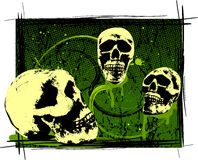 Creepy Halloween Skulls Royalty Free Stock Photos