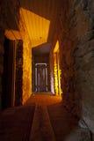 Creepy Hallway. Creepy light painted hallway in old abandoned stone house Stock Images