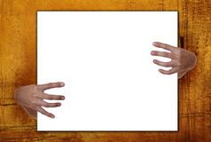 Creepy Hands Holding Frame Stock Photography