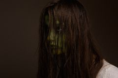 Creepy horror girl Royalty Free Stock Images