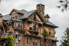 Creepy house. Abandoned spooky school for girls Royalty Free Stock Images