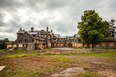Creepy house. Abandoned spooky school for girls Stock Photography