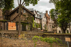 Creepy house. Abandoned spooky school for girls Royalty Free Stock Photography