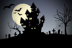 Creepy house - halloween Royalty Free Stock Image