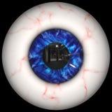 Creepy human eyeball Stock Images