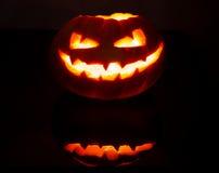Creepy Jack'o Lantern Royalty Free Stock Images