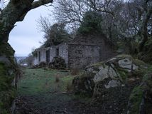 Abandoned ferry house on Bute. The creepy looking ferry house on Bute, just before dawn Royalty Free Stock Photography
