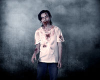 Creepy Male Zombie Royalty Free Stock Image