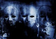 Creepy Mask. Creepy white mask on grunge background Royalty Free Stock Image