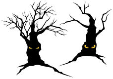 Creepy monster trees Royalty Free Stock Images