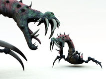Creepy Monsters 1. An image of a set of creepy monsters, a suitable image for Halloween Stock Photography