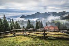 Creepy Mountains. The beautiful romanian mountain landscape Royalty Free Stock Photos