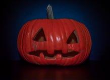 Creepy natural lighting pumpkin, jack o lantern Stock Photos