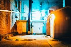 Creepy night scene in Hanover, Pennsylvania. Stock Photography