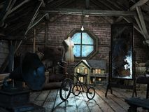Free Creepy Old Musty Attic, Background Royalty Free Stock Photo - 164772665