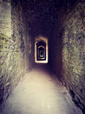Creepy passage in a castle royalty free stock photos