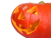 Creepy pumpkin for halloween party Royalty Free Stock Images