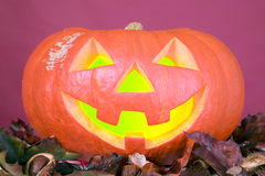 Creepy pumpkin for halloween party Stock Photography