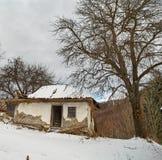 Creepy ruined house Stock Photos