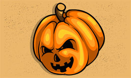 Creepy Scary Pumpkin for halloween texture easy remove. Scary face Pumpkin For celebrate Halloween Stock Photo