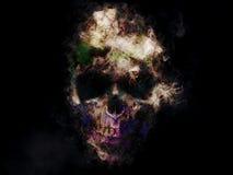 Creepy skull illustration Royalty Free Stock Photography