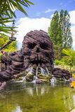 Creepy Skull Rock in Disneyland Paris. stock photo