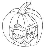 Creepy Smiley Halloween pumpkin face isolated Stock Images