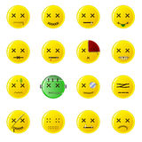 Creepy Smileys - buttons Stock Images