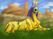 Creepy sphinx Royalty Free Stock Image
