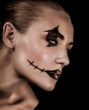 Creepy vampire portrait Stock Photo