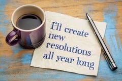 Creerò le nuove risoluzioni tutto l'anno Fotografia Stock Libera da Diritti