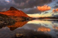 Cregennan湖北部威尔士 库存图片