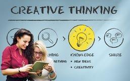 Crei il concetto di idee di ispirazione dell'innovazione dell'immaginazione immagine stock libera da diritti