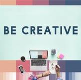 Crei il concetto di progetto di idee di creatività immagine stock libera da diritti