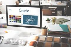 Crei la progettazione Logo Concept di ispirazione fotografia stock libera da diritti