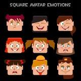 Crei le emozioni del quadrato di una ragazza dell'avatar Immagine Stock
